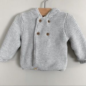 M&S Pure Cotton Chunky Knit Hooded Cardigan